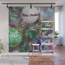 Merry Christmas Murano glass ornaments Wall Mural