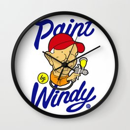 Paint by Windy Wall Clock