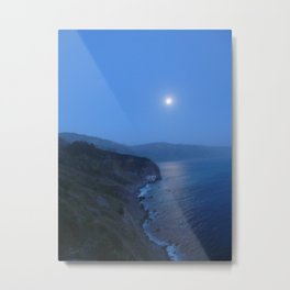 Moon over Big Sur Metal Print
