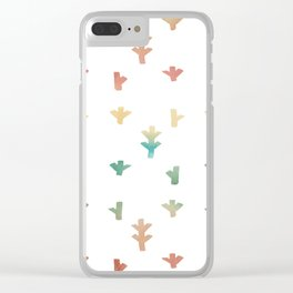 Colorful Boho tree pattern Clear iPhone Case