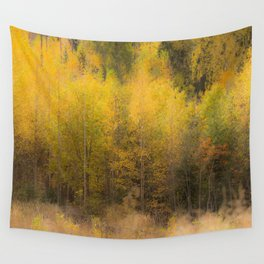 Fall color forest #decor #buyart #society6 Wall Tapestry
