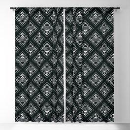 Decoish - White on Black - Set 5 Blackout Curtain