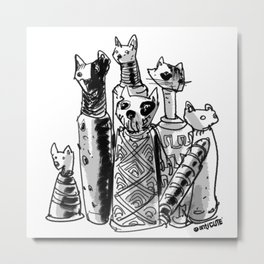 cat mummies Metal Print