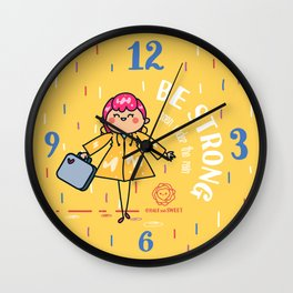 Be strong even under the rain Wall Clock