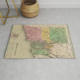 Native American Tribes and Territories of Pre-Colonial Rhode Island and Southern New England Vintage Rug