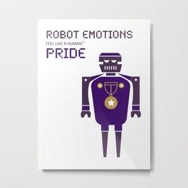 Pride Robot Emotions Metal Print