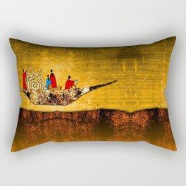 Africa retro vintage style design illustration Rectangular Pillow