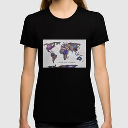 Star map. Never stop exploring... T-shirt