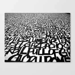 Upwords Canvas Print