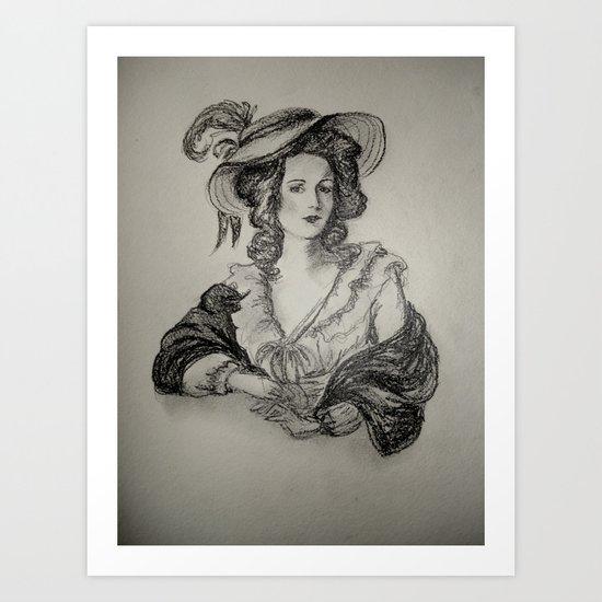 French Sketch IV Art Print