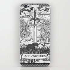 Legend of Zelda Master Sword Vintage Tarot Scene iPhone & iPod Skin