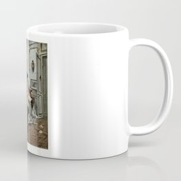 """""""Une Trouvaille"""" A Discovery, Classic 19th Century French Newspaper Print Coffee Mug"""