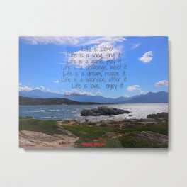 Life is Love by Sai Baba featured by Sunny Seas Art Metal Print