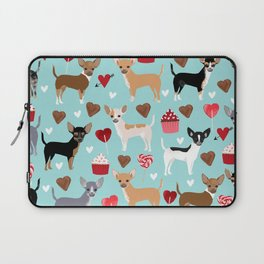 Chihuahua love hearts cupcakes valentines day gift for chiwawa lovers Laptop Sleeve