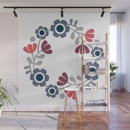 Simple flowers Wall Mural