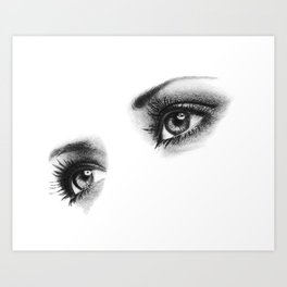Female Eyes Art Print