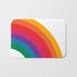 Retro Bright Rainbow - Right Side Bath Mat