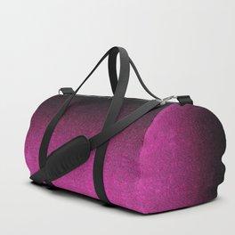 Pink & Black Glitter Gradient Duffle Bag