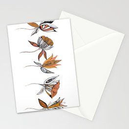 five flowers Stationery Cards