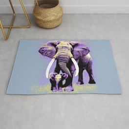 Elephant with child - Night Rug