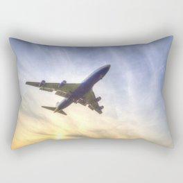 Boeing 747 Sunset  Rectangular Pillow