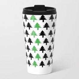 Green tree Metal Travel Mug