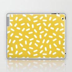 Somethin' Somethin' - yellow bright happy sprinkles pills dash pattern rad minimal prints Laptop & iPad Skin