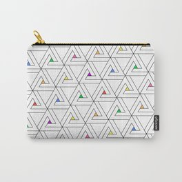 Triangulated Colours Carry-All Pouch