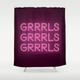 Riot Grrrls Shower Curtain