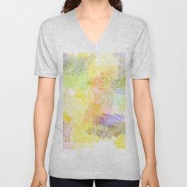 Watercolour Leaves Texture Unisex V-Neck