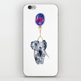 flying elephant watercolor painting  iPhone Skin