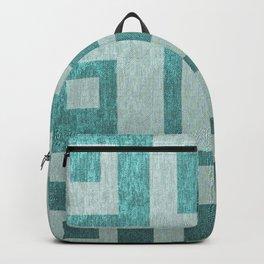 Retro,1950's pattern,geomtric,metallic,teal,tourquise,beautiful,glam,elegant,chic,vintage,pattern Backpack