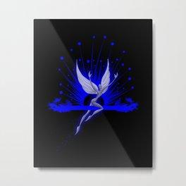 Electric Blue Angel Metal Print