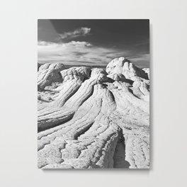 The Brain Rocks of White Pocket Metal Print