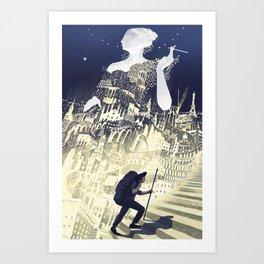 Europa & The Traveller Art Print