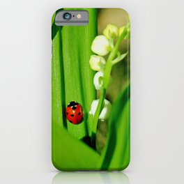 The Ladybug and Lily of the valley iPhone Case