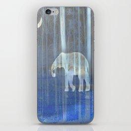 Moonlight with elephant iPhone Skin