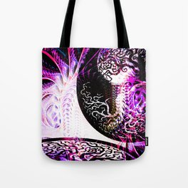 Purple Opposition Tote Bag