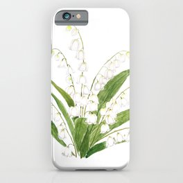 white lily of valley iPhone Case