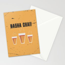 Funny Hindi Chai Quote Stationery Cards