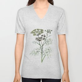 watercolor flower 2 . art Unisex V-Neck