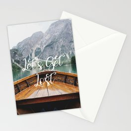 Live the Adventure - Lets Get Lost Stationery Cards