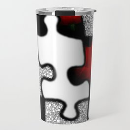 poppylove with puzzle design Travel Mug
