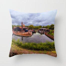 Black Country Living Museum Boat Yard Peaky Blinders Throw Pillow