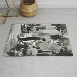 French village, 1950 Rug