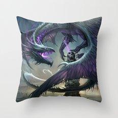 Black Dragon v2 Throw Pillow