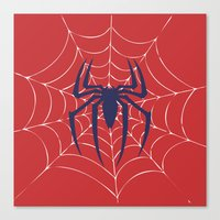 spider Canvas Prints featuring Spider by Vickn