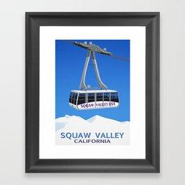 Squaw Valley Ski Resort ,LakeTahoe , California Framed Art Print