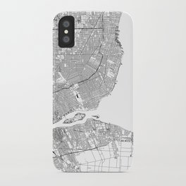 Detroit White Map iPhone Case