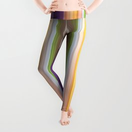 Different soft coloured striped abstract Leggings